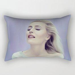 Gillian Anderson painting Rectangular Pillow