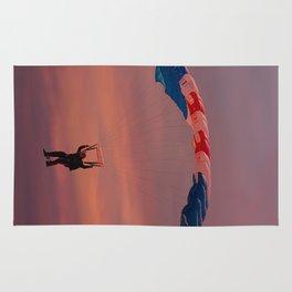 RAF Falcon Parachute Jump At Sunset Rug