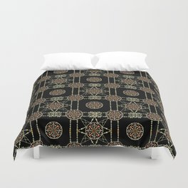Aztec circle seamless indian pattern background Duvet Cover