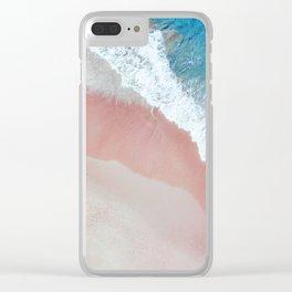 Aerial: Sandy Beach in Vivid Colours Clear iPhone Case