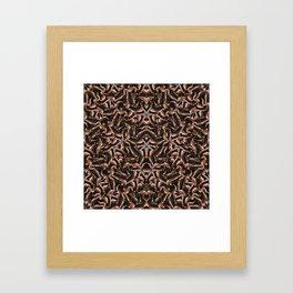 Dark Intricate Modern Tribal Framed Art Print