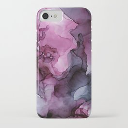 Abstract Ink Painting Ethereal Flowing Watercolor Nebula iPhone Case