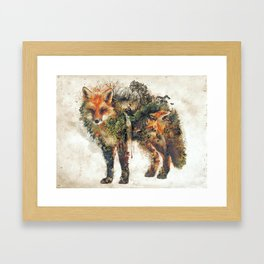 The Fox Nature Surrealism Framed Art Print