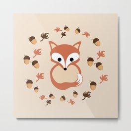 Fox in autumn Metal Print