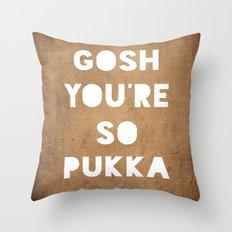 Gosh (Pukka) Throw Pillow