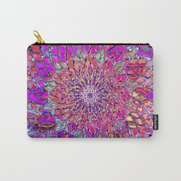 sacred geometry-Eye flower mandala-nature-healing-energy-quantum-vitrage effect Carry-All Pouch