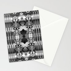 B&W Watercolor Ikat Stationery Cards