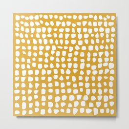 Dots (Mustard Yellow) Metal Print