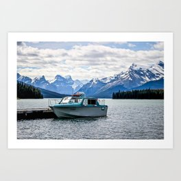 Maligne Lake Art Print