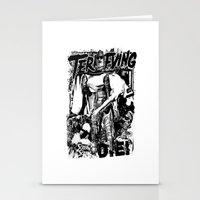 horror Stationery Cards featuring Horror by HEADBANGPARTY