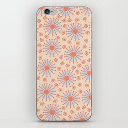 Carousel Retro Blue iPhone Skin