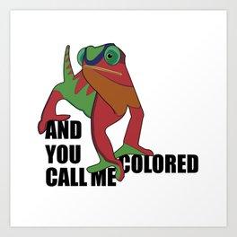 And you call me colored Art Print