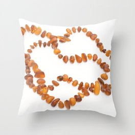 beads with amber Throw Pillow