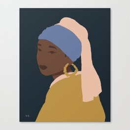 The Girl With A Bamboo Earring Canvas Print