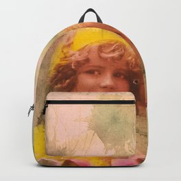 Vintage childhood of the last century Backpack
