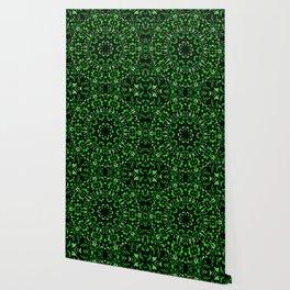 Green and Black Kaleidoscope 2 Wallpaper
