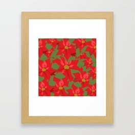 Poinsettia Love (Red) Framed Art Print