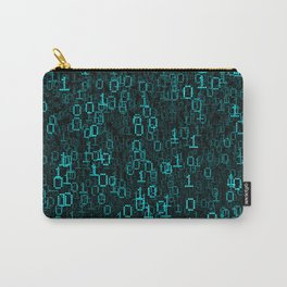 Binary Data Cloud Carry-All Pouch