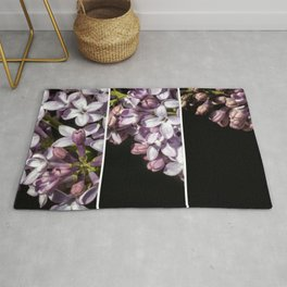 Lilac Bouquet Triptych One Rug