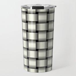Ivory Weave Travel Mug
