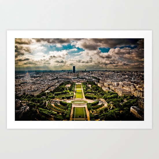 Paris from the Eiffel Tower Art Print