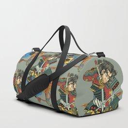 Samurai and Pug Duffle Bag