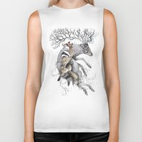 wildlife Biker Tanks featuring protect our wildlife  by KatePowellArt