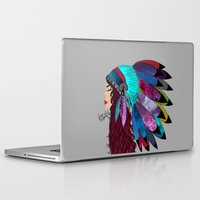 native american Laptop & iPad Skins featuring native american  by Lunah