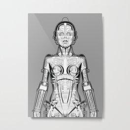 Metropolis Robot Anatomy Metal Print
