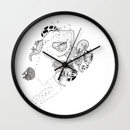 You should be here Sleep with Kitty Cats Wall Clock
