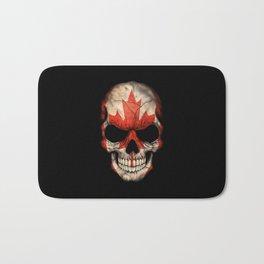 Dark Skull with Flag of Canada Bath Mat