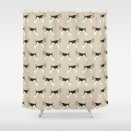 Wire Fox Terrier dog pattern dog lover gifts for dog person dog breeds pet friendly Shower Curtain