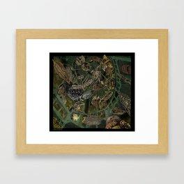 Skeleton Key Lighthouse 03. Treasures from the Briny Deep 02 Framed Art Print