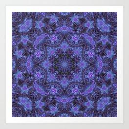 Blue and Purple Kaleidoscope 2 Art Print