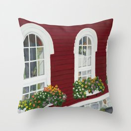 On the Stroll Throw Pillow