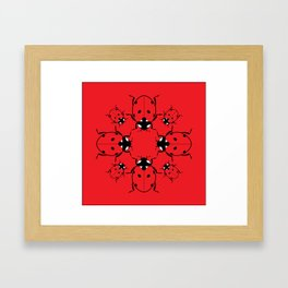 Ladybirds Framed Art Print