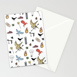 Hunger Game quality pattern - black version Stationery Cards