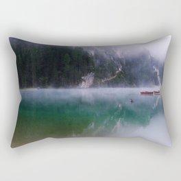 Foggy mountain lakes, Italy Rectangular Pillow