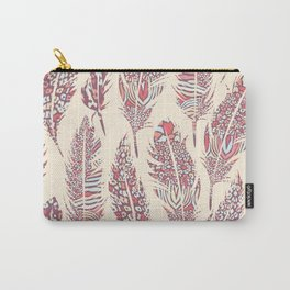 Bohemian California Feathers Carry-All Pouch