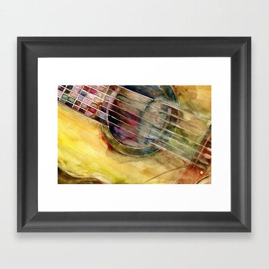 Ovation Acoustic Guitar Framed Art Print
