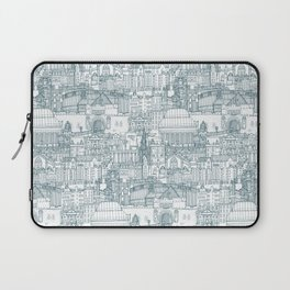 Edinburgh toile denim white Laptop Sleeve