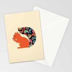 Paisley Squirrel Stationery Cards