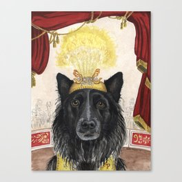 Pearson the Circus Dog Canvas Print