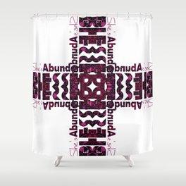 She's Abundantly Blessed Cross Shower Curtain