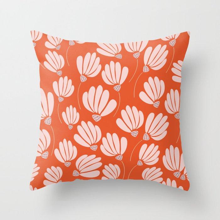 Floral Fields Pattern Design Throw Pillow