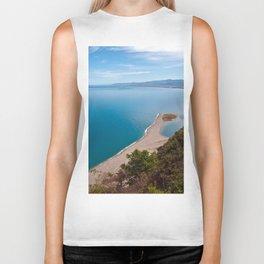 White Lagoon of Tindari on the Isle of Sicily Biker Tank
