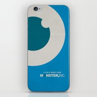monster inc iPhone & iPod Skins featuring Monster, Inc. - Blue (Vintage) by Lemontrend Studio
