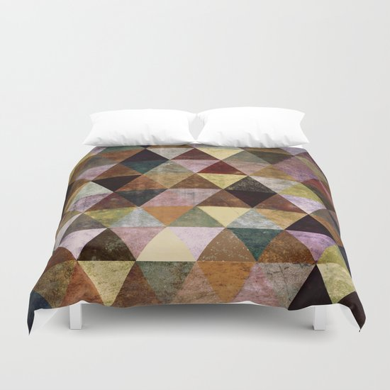 Abstract #399 Peat Bog Grunge Duvet Cover