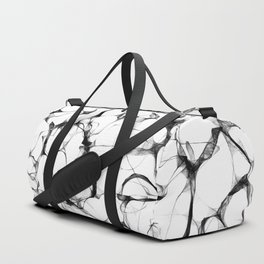 Wires Black & White Duffle Bag