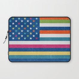 American flag trendy colors Laptop Sleeve